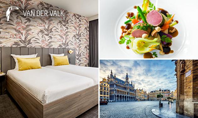Luxe overnachting voor 2 + ontbijt + late check-out nabij Brussel