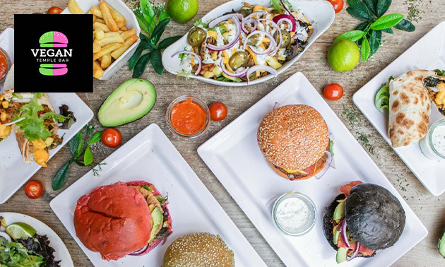 Vegan burger naar keuze + friet bij Vegan Temple Bar