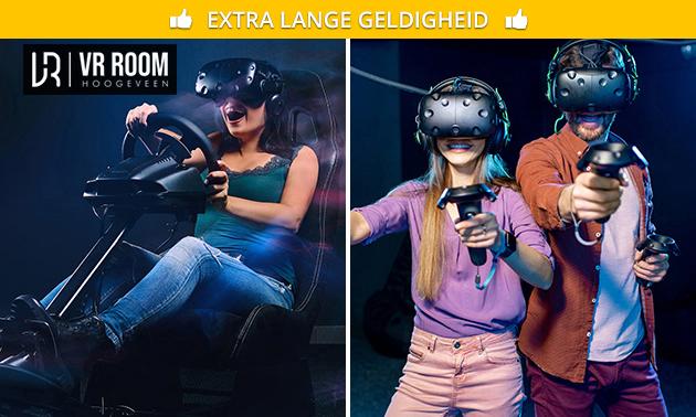 Racesimulatie of VR-game naar keuze (90 minuten)