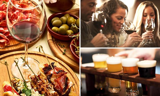 Wijn- of bierproeverij + tapas aan huis