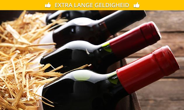 Thuisbezorgd of afhalen: wijnpakket met 6 wijnen