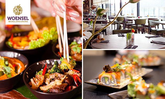 Thuisbezorgd of afhalen: shared dining-diner (19 gerechten)