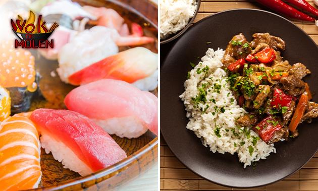 Thuisbezorgd of afhalen: Aziatisch diner voor 2