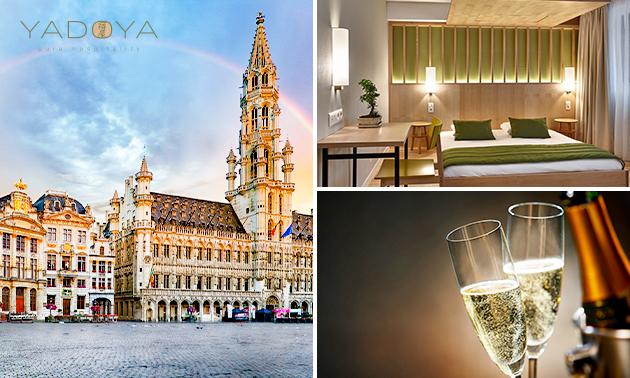 Übernachtung + Sekt für 2 Personen in Brüssel