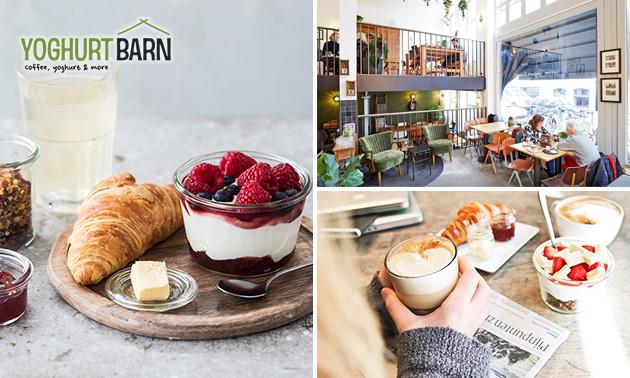 Ontbijt + sapje bij Yoghurt Barn in hartje Rotterdam