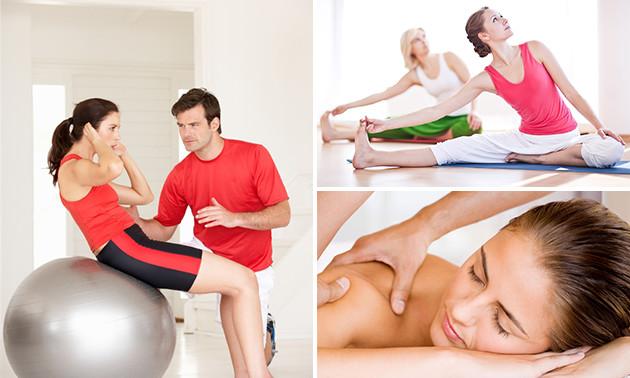 Massage (60 min) óf massage + yoga (1 of 2 uur)