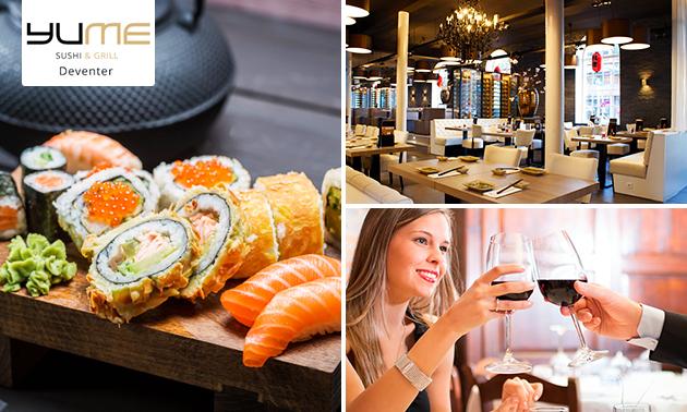 All-You-Can-Eat sushi en grill (2,5 uur) bij YuMe
