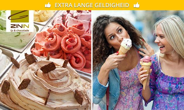 Afhalen: 12 bollen Italiaans ijs bij ZININ ijs & chocolade