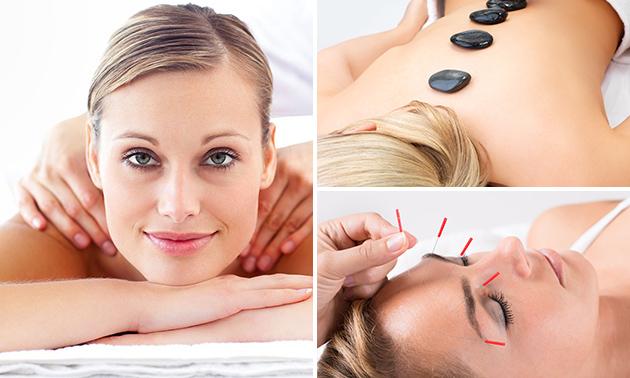 Acupunctuurbehandeling of massage naar keuze