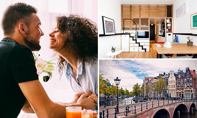 Übernachtung für 2 + Frühstück + Getränk im Herzen von Amsterdam